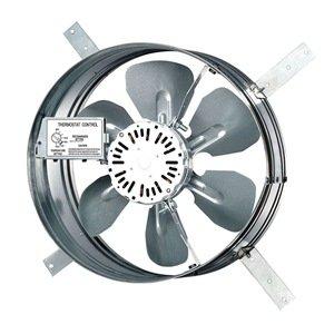 Dayton 10W199 Gable Attic Ventilator, 120V, 1650 CFM ()