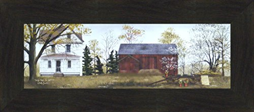 ale by Billy Jacobs 10x22 Farm Barn Wagon Folk Art Country Print Wall Décor Framed Picture (2