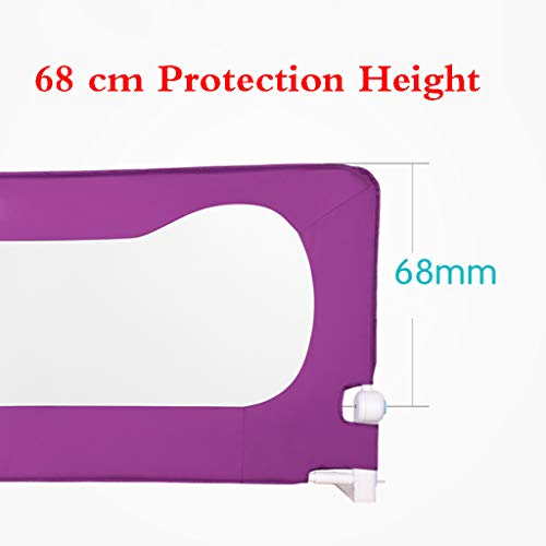 Bed Fence Baby Shatter-Resistant Protective Railing Vertical Lifting Baby Children Bedside Single Toddler Bed Rail Child Safety Bed Guard Folding Infant Baby Bedrail Protection Guards by SONGTING Guardrail (Image #3)
