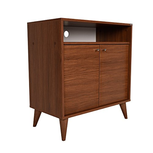 Adore ADR-2001-CZ-1 Contemporary London 2 Door Cabinet, Spanish Walnut 41QNbXv PUL