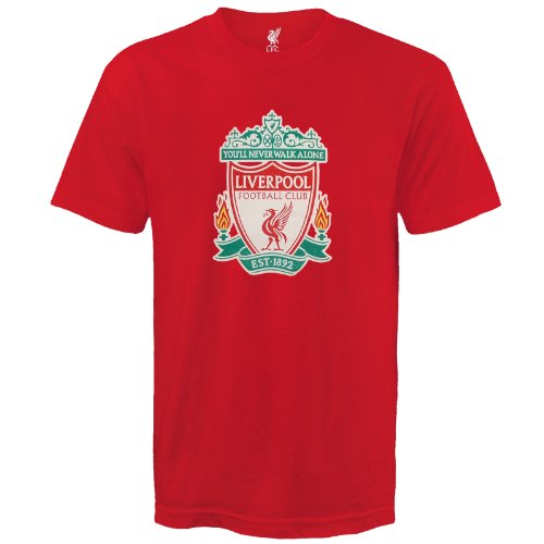 Liverpool FC Football Soccer Official Gift Mens Crest T-Shirt Red XL