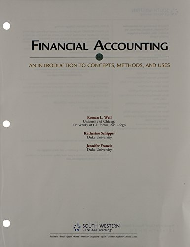 Bundle: Financial Accounting: An Introduction to Concepts, Methods and Uses, 14th + CengageNOW Printed Access Card