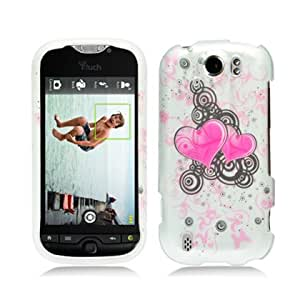 HTC MyTouch 4G Slide Twin Hearts Rubberized Hard Case