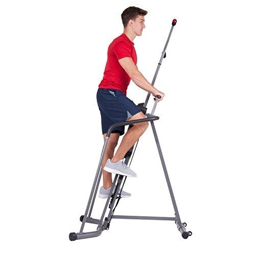 Body Champ Cardio Climber with Full Wraparound Stability Rails, Gray