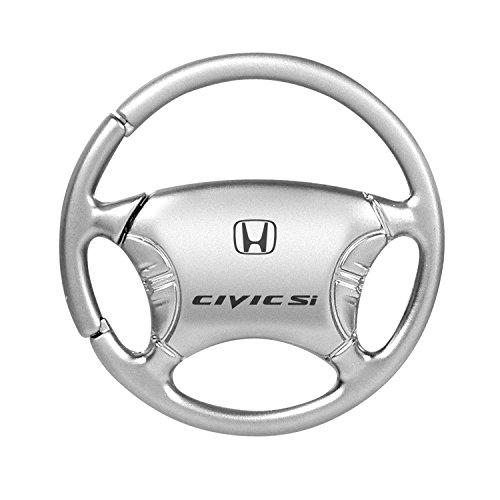 Keychain & Keyring with Honda Civic SI Logo - Steering Wheel