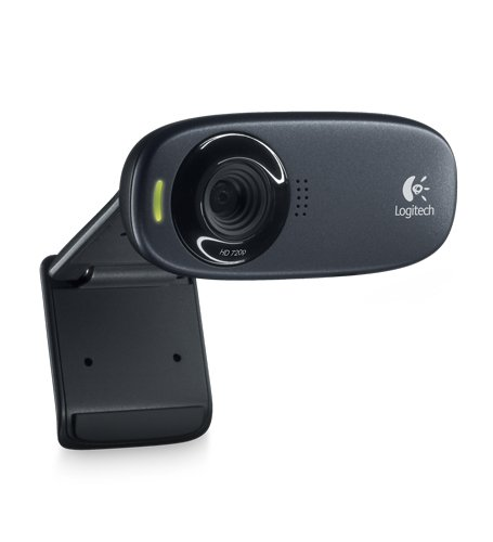 Logitech C270 HD Webcam, 720p Widescreen Video Calling and Recording (960-000694)