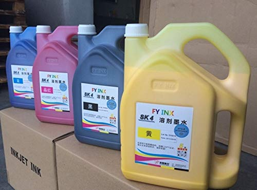 Zamtac Infiniti pirnter Ink sk4 Ink for Seiko 510 printheads CMYK 5 liters per Bottle Printing Ink by GIMAX (Image #1)