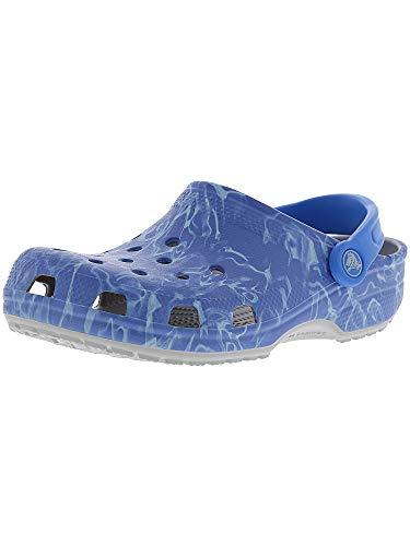 Crocs Womens Classic Graphic Casual Comfort slip On Clogs, Lightweight Water, Gardening, or Beach Shoe