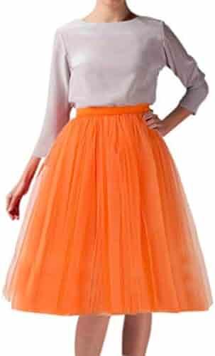 145edf89fc1 Wedding Planning Women s A Line Short Knee Length Tutu Tulle Prom Party  Skirt