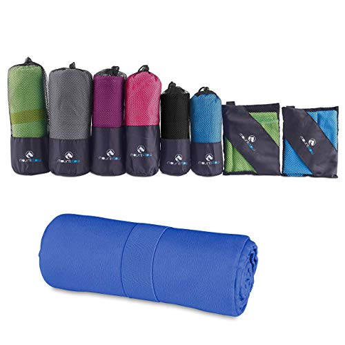 MountFlow Microfiber Towel - Quick Dry Micro Travel Towels for Swimming Pool Camping Gym Sports Yoga and -