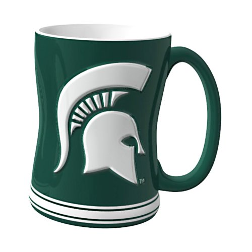 NCAA Michigan State Spartans Sculpted Relief Mug, 14-Ounce
