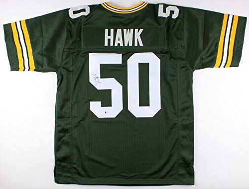 Aj Hawk Autographed Signed Green Bay Packers Jersey Signature - Beckett ()