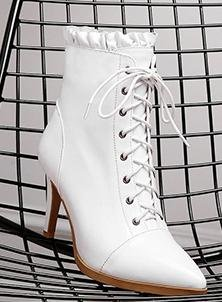 Leather White Martin Boot Laruise Women's ZvRgBB