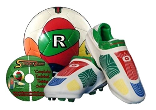 Patented Professional Soccer Training System, Great for Coaching and Training All Ages, Includes Soccer Ball and Shoe Sleeve and Free Soccer Training Video. (Ball Size 3/Sleeve Size Small)