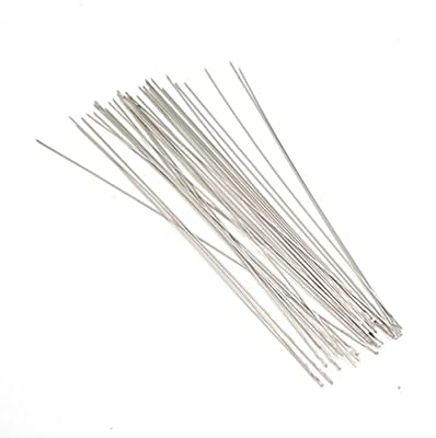 Dealglad? 20Pcs Beading Needles Threading String Cord Pins Hand Tools for DIY Jewelry Making 0.6*120 mm