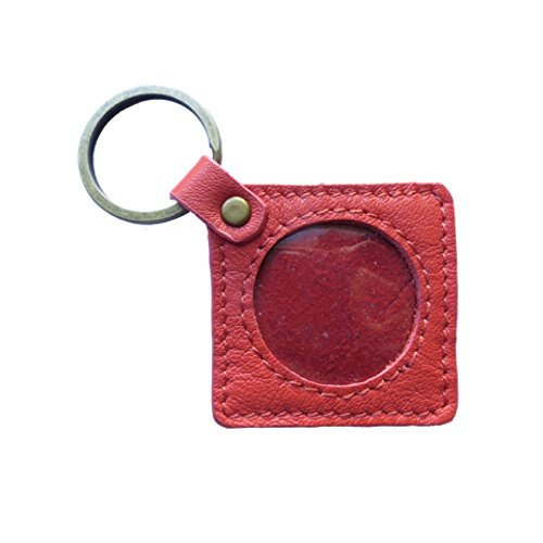 (AA Medallion or Coin Holder, Leather Key Fob, Square,)