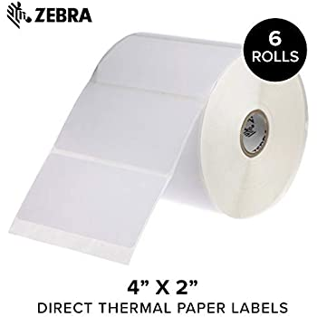 Amazon Com Zebra 4 X 2 In Direct Thermal Paper Labels