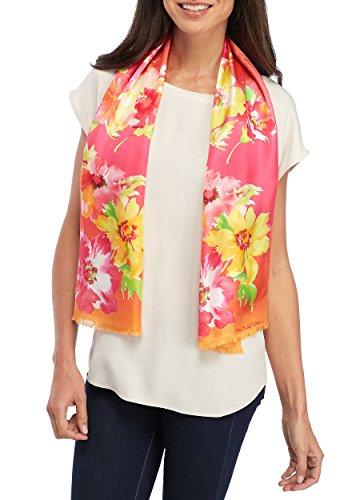 Lauren Ralph Lauren Lara Silk Scarf (Bold Pink, One Size)