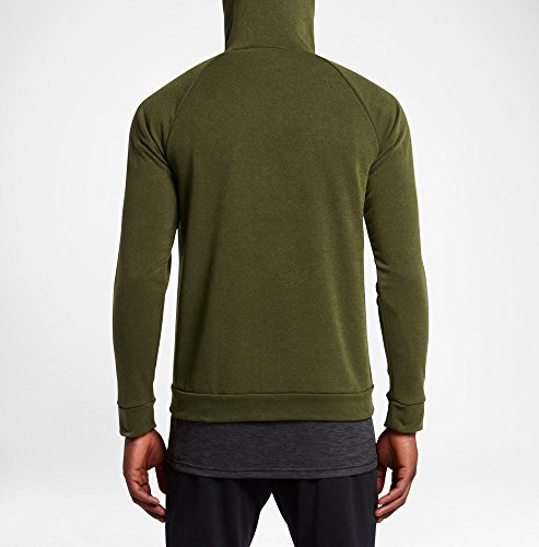 Grigio Nk Nero sequoia Nike Dry Hyper M Flc Verde Legione Fz Felpa Uomo q6H8g