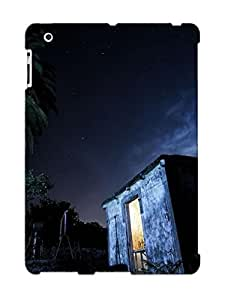 Christmas Gift - Tpu Case Cover For Ipad 2/3/4 Strong Protect Case - Cottage At Night Under The Palm Tree Design