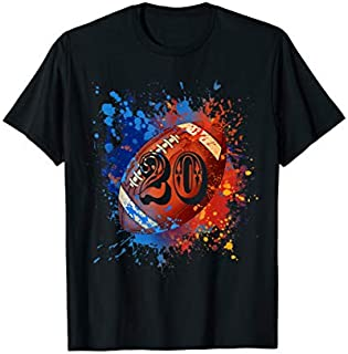 20 Years Old 20th Birthday rugby Gift For Boys T-shirt | Size S - 5XL