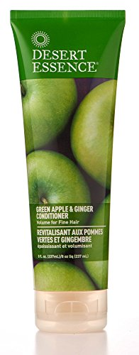 - Desert Essence, Thickening Conditioner, Green Apple and Ginger, Vegan, 8 oz