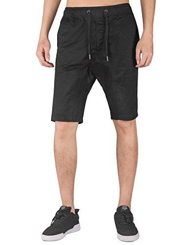 ITALY MORN Men's Chino Classic Casual Shorts S Black
