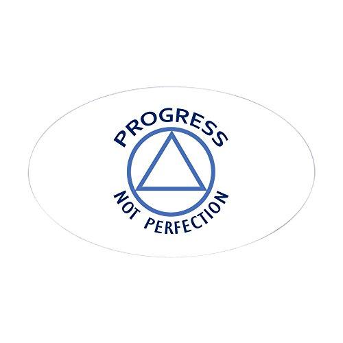 CafePress Progress NOT Perfection Sticker Oval Bumper Sticker, Euro Oval Car Decal