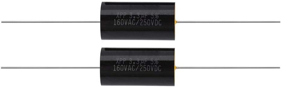 1uF Zerone 2PCS Capacitor Frequency Divider Capacitance Audio Speaker Capacitor with Pure Copper Wire Pins