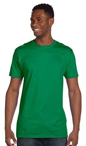 Hanes Herren Asymmetrischer T-Shirt Grün Kelly Green xl