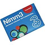 DREI Nimm3 Standard / TipleSIM Wertkarte inkl. 100 Freieinheiten