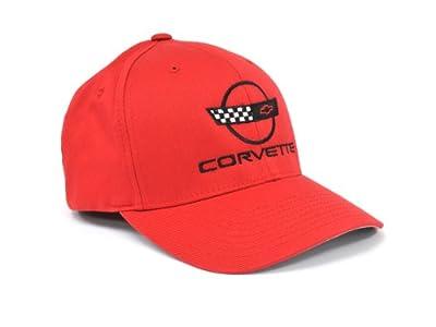Corvette C4 Flex Fit Hat Red Large/Extra Large Fit by CORVETTE CENTRAL