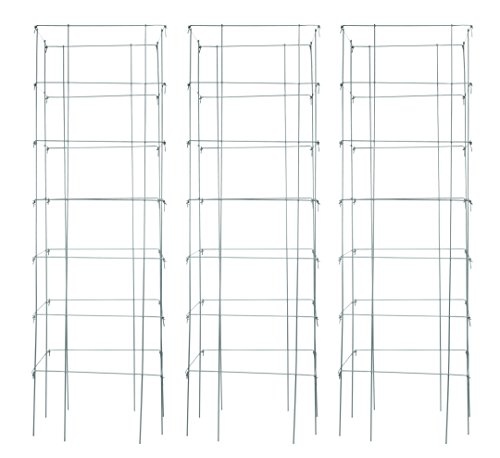 Burpee Extra Large Heavy Gauge Silver Tomato Cage | 3 Cages | 18