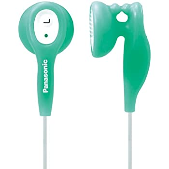 Panasonic RPHV21GA In-Ear Earbud Heaphones with Built-in Clip (Green) (Discontinued by Manufacturer)