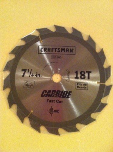 Craftsman 7 1/4-in. 18t Carbide Fast Cut Blade (Blade Craftsman Carbide Saw)