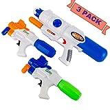 Angel Force Set of 3 Kids Water Gun Toys 20ft Blaster Pistols Garden Pool Summer Fun For Children