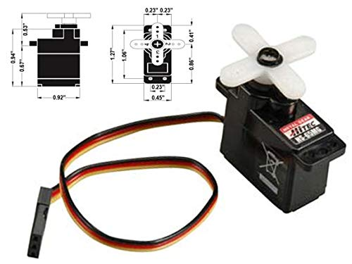 Hitec 32065S HS-65MG Mighty Feather Metal Gear Servo ()