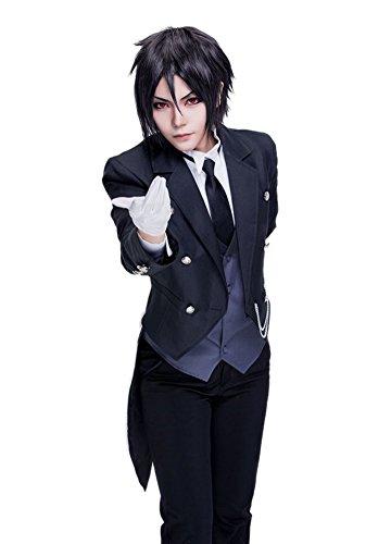 Sebastian Black Butler Costume (ROLECOS Sebastian Michaelis Cosplay Costume Formal Tuxedo Suit Anime Cosplay Asian M)