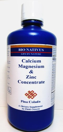 Bio Nativus Calcium Magnesium Zinc Concentrate Pina Colada 32 oz ()