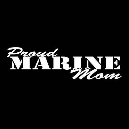 (Proud Marine Mom Window Decal Sticker United States Marines)