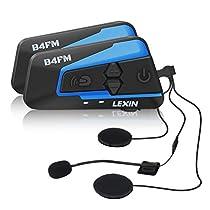 LX- B4FM バイク インカム bluetooth インターコム 4riders 同時通話 高音質 FMラジオ付き 無線機バイク 2種類マイク長時間通話 日本語説明書付