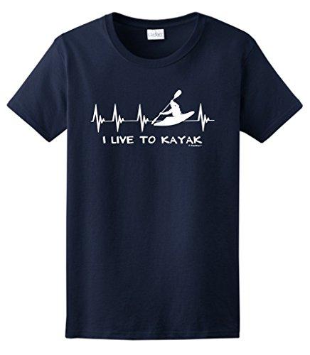 Kayaking Kayak Heartbeat Ladies T Shirt