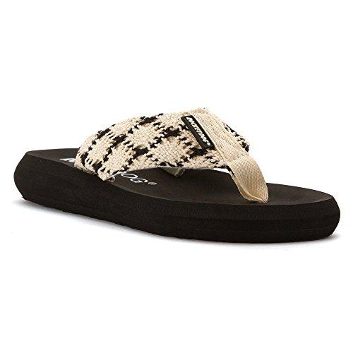Mariposa Shoe (Rocket Dog Women's Spotlight2 Mariposa Cotton Flip Flop, Natural, 6 M US)