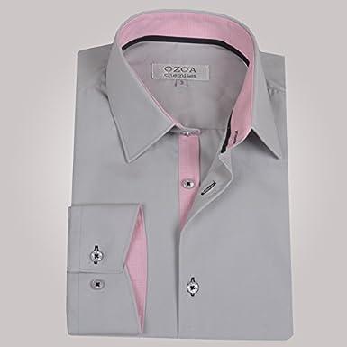 Ozoa-Camisa para hombre, color gris claro trio-Juego de 3 pies de gallina, camisa CINTREE & gris Gris Claro Small: Amazon.es: Ropa y accesorios