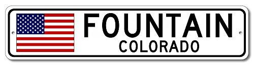 The Lizton Sign Shop Fountain, Colorado Aluminum America Flag Sign, USA Custom Flag Sign - 4