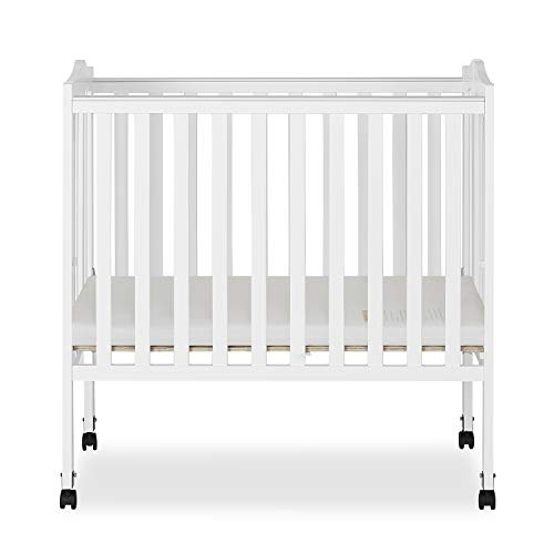 (Dream On Me 2 in 1 Lightweight Folding Portable Stationary Side Crib)