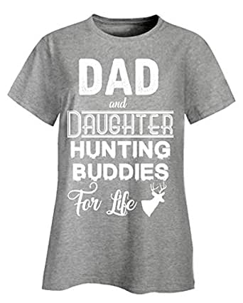 4bc16284 Funny Hunter - Dad and Daughter Hunting Buddies for Life - Shooting ...