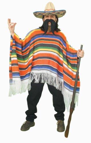 Serape Costumes (Forum Novelties Men's Adult Mexican Serape Costume, Rainbow, One Size)
