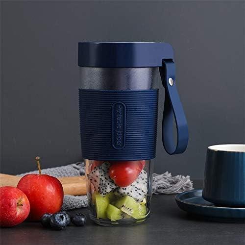 WCY Mini Juicer Portable multifunktionale USB-Lade Juice Cup Fruit Juice Elektro Rühren Cup (Farbe: blau) GGSM (Farbe: Pink) yqaae (Color : Blue) Blue