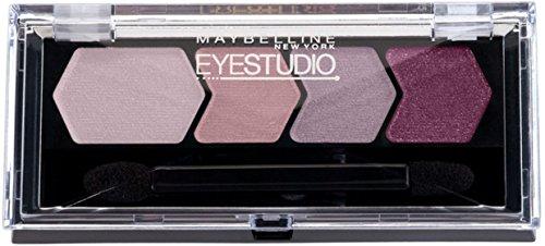 Maybelline EyeStudio Color Plush Silk Eyeshadow Quad, Mad For Mauve [10], 0.09 oz (Pack of 5)